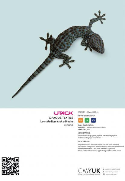UTACK SV/LTX/UV Textile Opaque (low-medium tack)