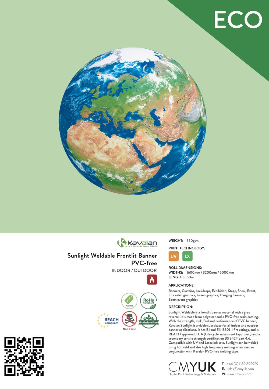 Kavalan Sunlight Weldable Frontlit Banner PVC-free