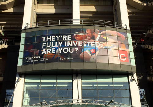 CLEAR FOCUS One Way Vision™ film from CMYUK was used by Amayse to create stunning window graphics at Twickenham Stadium.