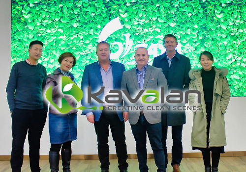 Eric Zhang, Product Manager, TAYA Groups; Nova Abbott, Head of Marketing, TAYA Groups; Robin East, CMYUK Group Sales & Marketing Director; Jon Price, CMYUK Group Finance & Operations Director; Michael Crook, CMYUK Commercial Director; Linda Zhang, Sales Manager, TAYA Groups.