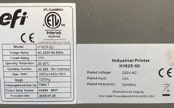 EFI H1625SD Thermoforming hybrid printer 5