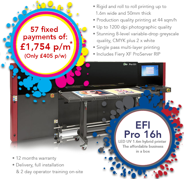 EFI Pro 16h LED - Low Deposit, then nothing to pay for 3 months