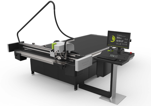 Photo shows Esko Kongsberg X24 digital cutting table