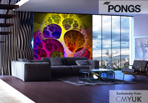 PONGS Illuminati – the latest backlit textile for dye sublimation printing, offering a natural soft textile feel, perfect stretch and excellent colour reproduction