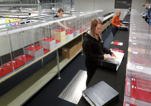 CMYUK's dedicated production facility for Material Sample Binders