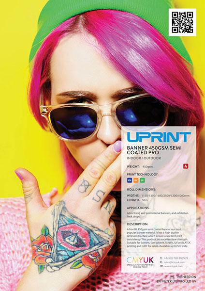 UPrint Banner 450gsm - semi coated