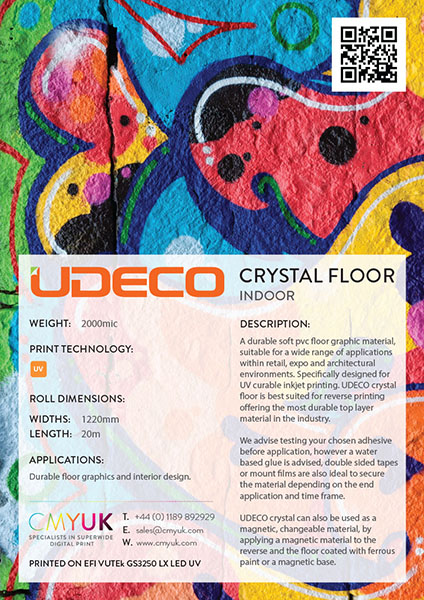 CMYUK UDECO Crystal floor - UV