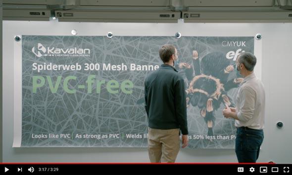 EFI endorses Kavalan PVC-free banner