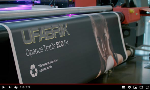 EFI rates UFabrik ECO material as the in ultimate frontlit/backlit applications