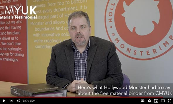 Our CMYUK Materials Binder - What Hollywood Monster had to say