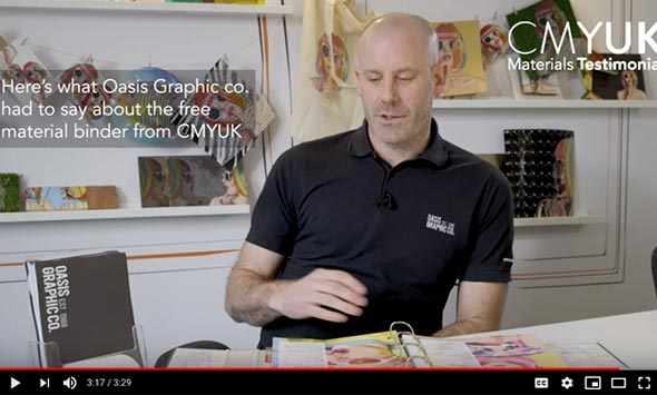 Our CMYUK Materials Binder - What Oasis Graphic co. had to say