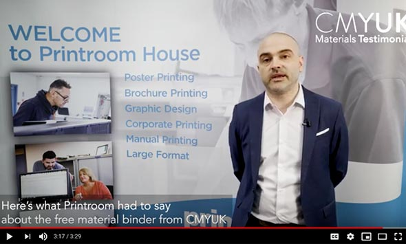 Our CMYUK Materials Binder - What Printroom had to say
