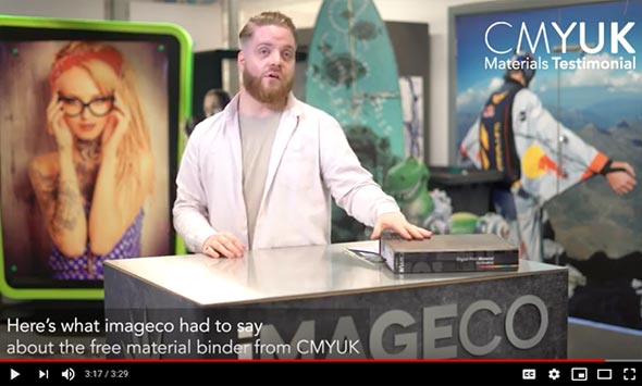 Our CMYUK Materials Binder - What imageco had to say