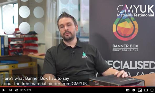 CMYUK Materials Binder - Banner Box