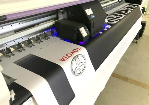 Borney is highly respected in the industry for the high-quality signs, flags and banners they produce for clients such as TOYOTA