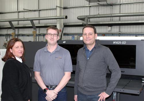 Sarah Winterbottom (CMYUK), Daniel Jepson (Plastic Formers) and Alexander Kattner (EFI)