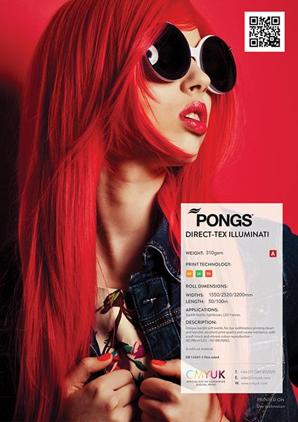 PONGS Direct-Tex illuminati - Backlit Textile