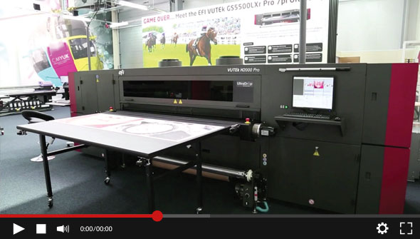 EFI VUTEK H2000 - Grayscale Printing demonstration