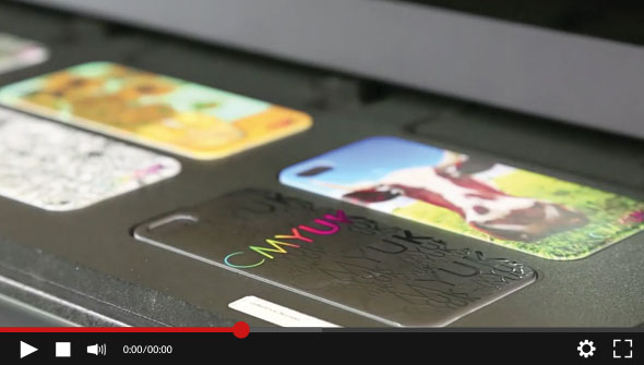 Mimaki UJF-6042 - Printing iPhone Cases & Pens demonstration