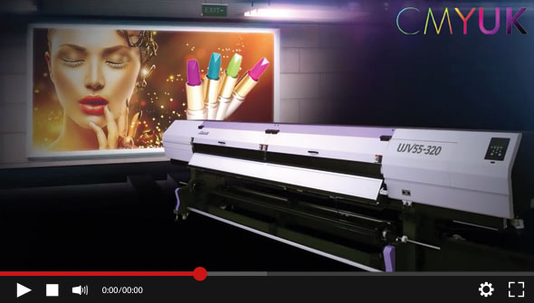 Watch the NEW Mimaki UJV55-320 3.2m LED UV roll to roll printer