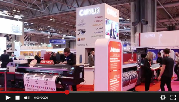 Watch the 2017 CMYUK Sign & Digital UK stand now - See the latest print technology