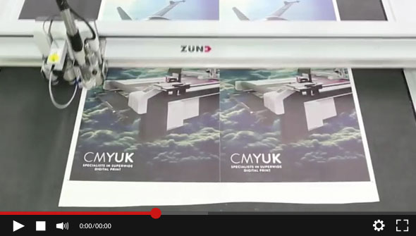 WATCH the New EFI Quantum LXr Video. The only LFP printer with inline finishing XY cutting